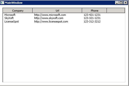 WPF ListView Binding - LicenseSpot