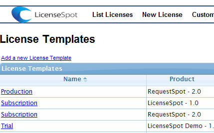 LicenseSpot License Templates